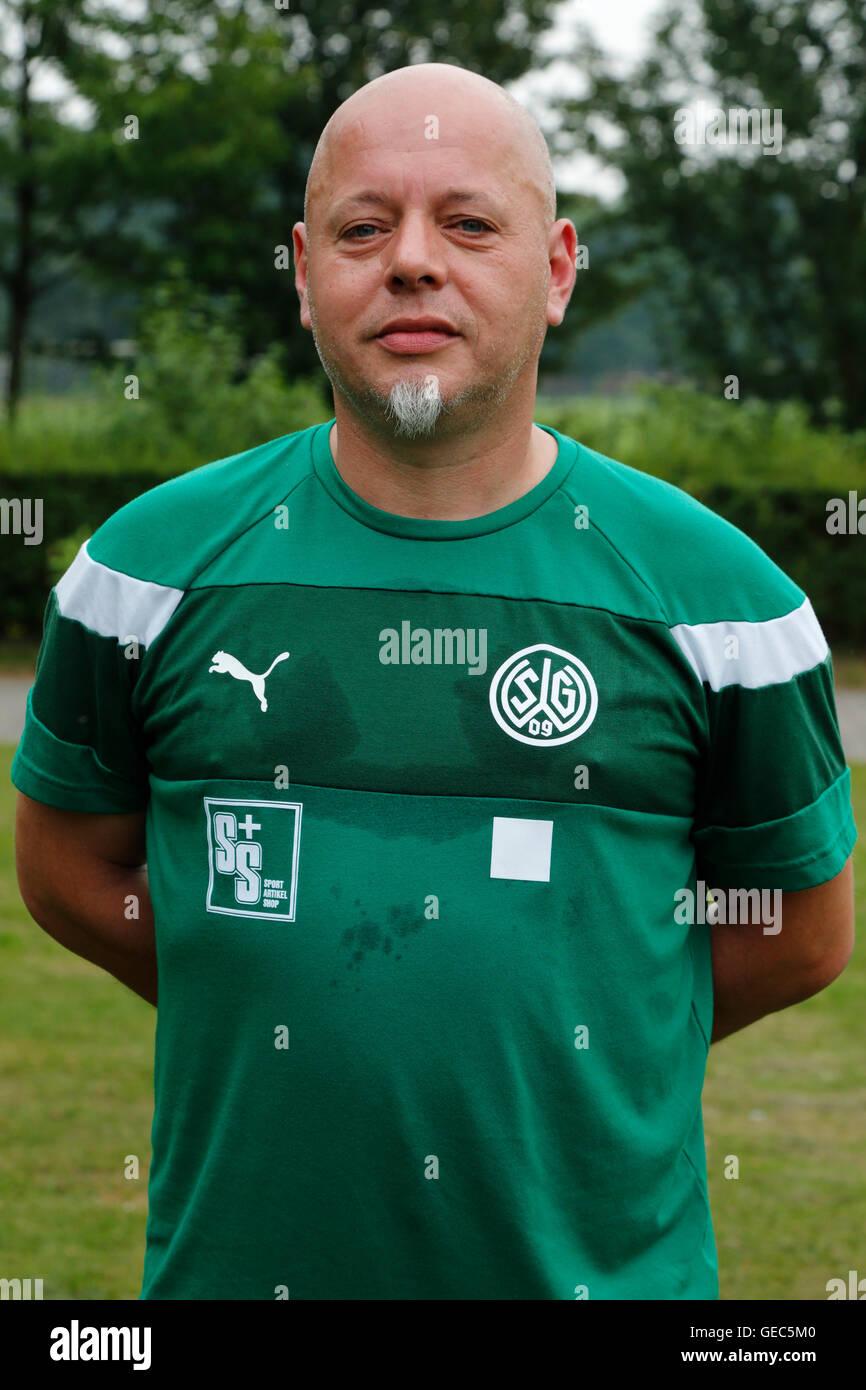 football, Regional League West, 2016/2017, SG Wattenscheid 09, team presentation for the game season, portrait team - Stock Image