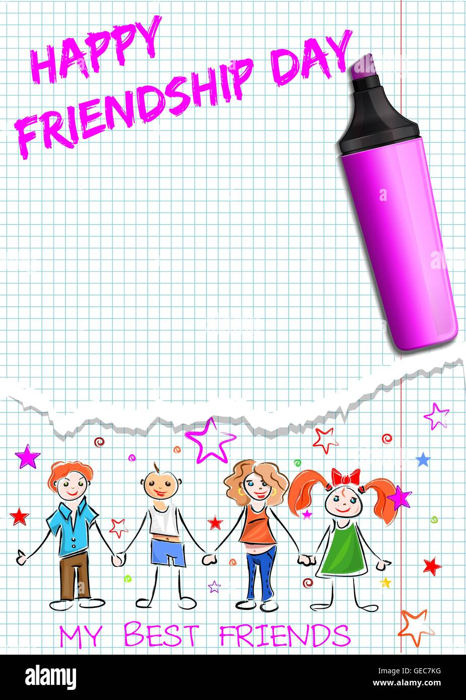 Poster for International Friendship Day ...
