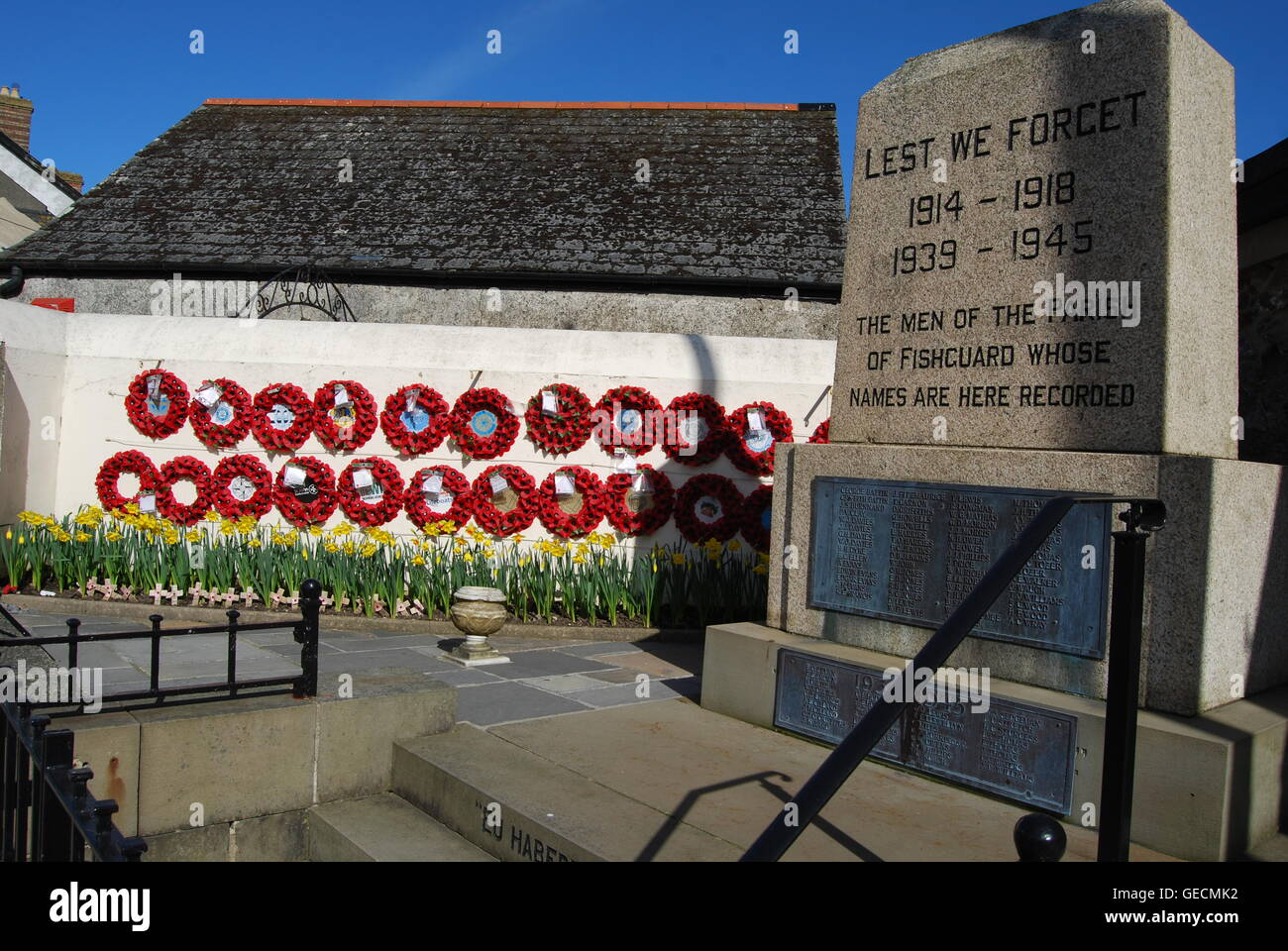 Fishguard Memorial - Stock Image