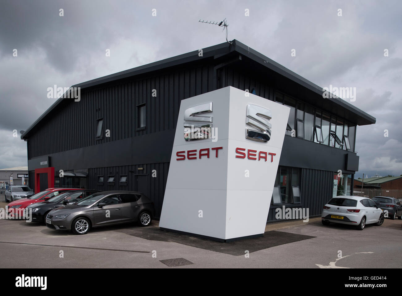 Seat car garage sign logo stock photo 112155936 alamy for Garage seat 78