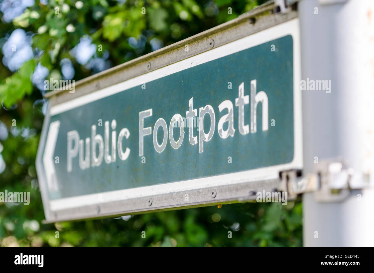 Public Footpath sign - Stock Image
