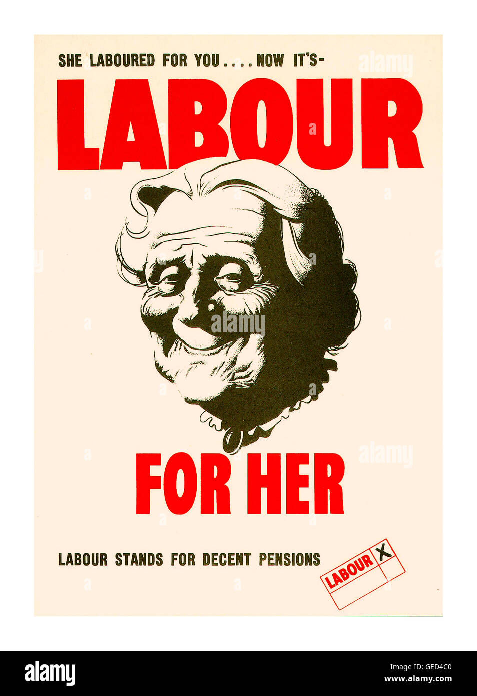 Historic vintage Labour Party Poster from post-war 1945