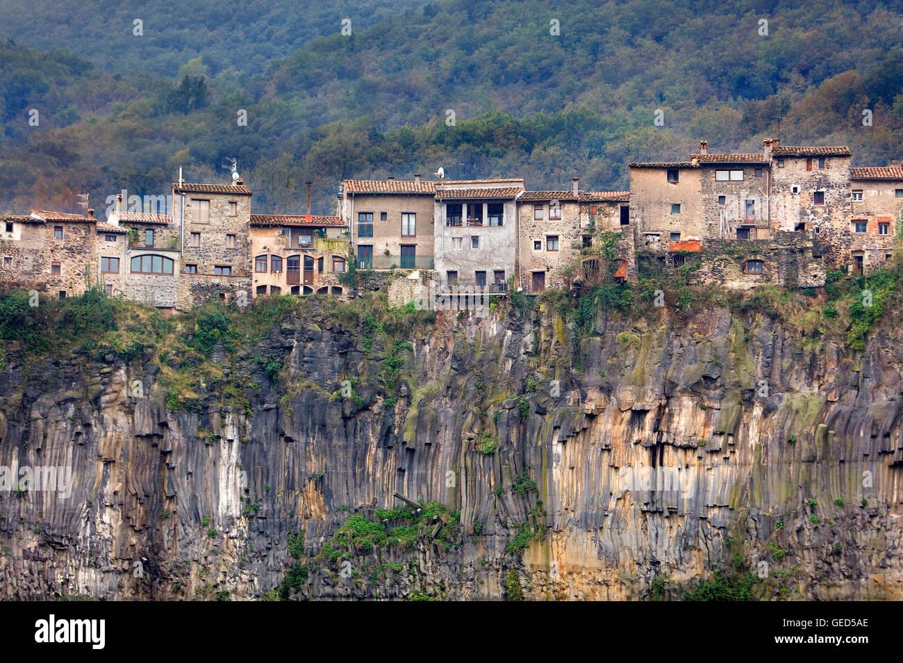 Castellfollit de la Roca,Girona province, Catalonia, Spain Stock Photo