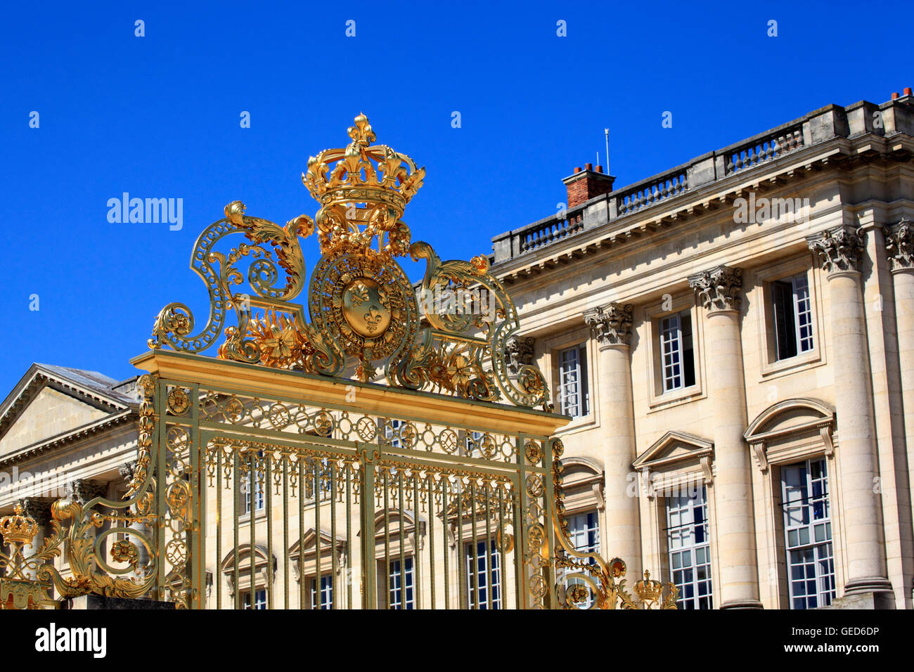 The Gate Of Honour at the Palace Of Versailles, France, Europe Stock Photo