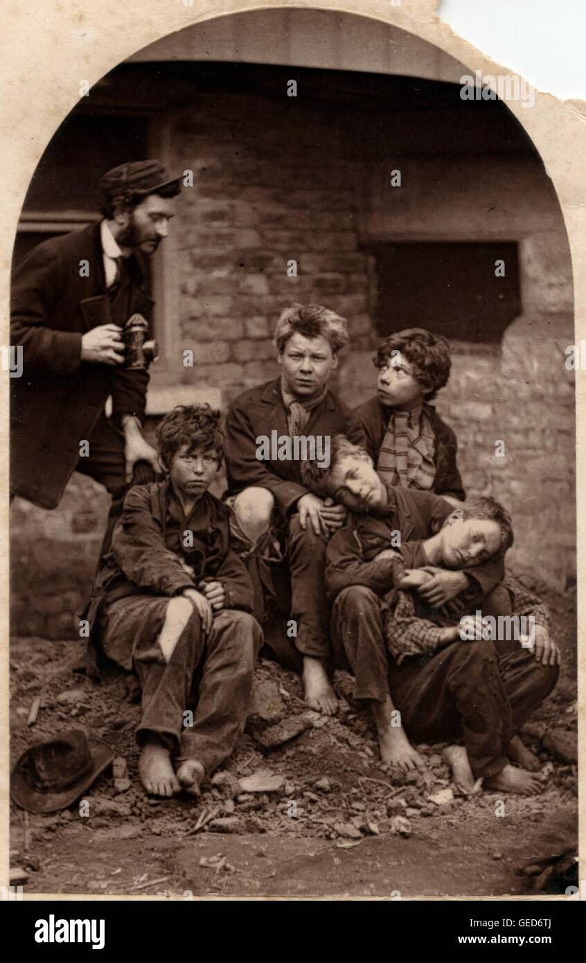 Street Children Recruited for Naval Service by the Marine Society, 1880 - Stock Image