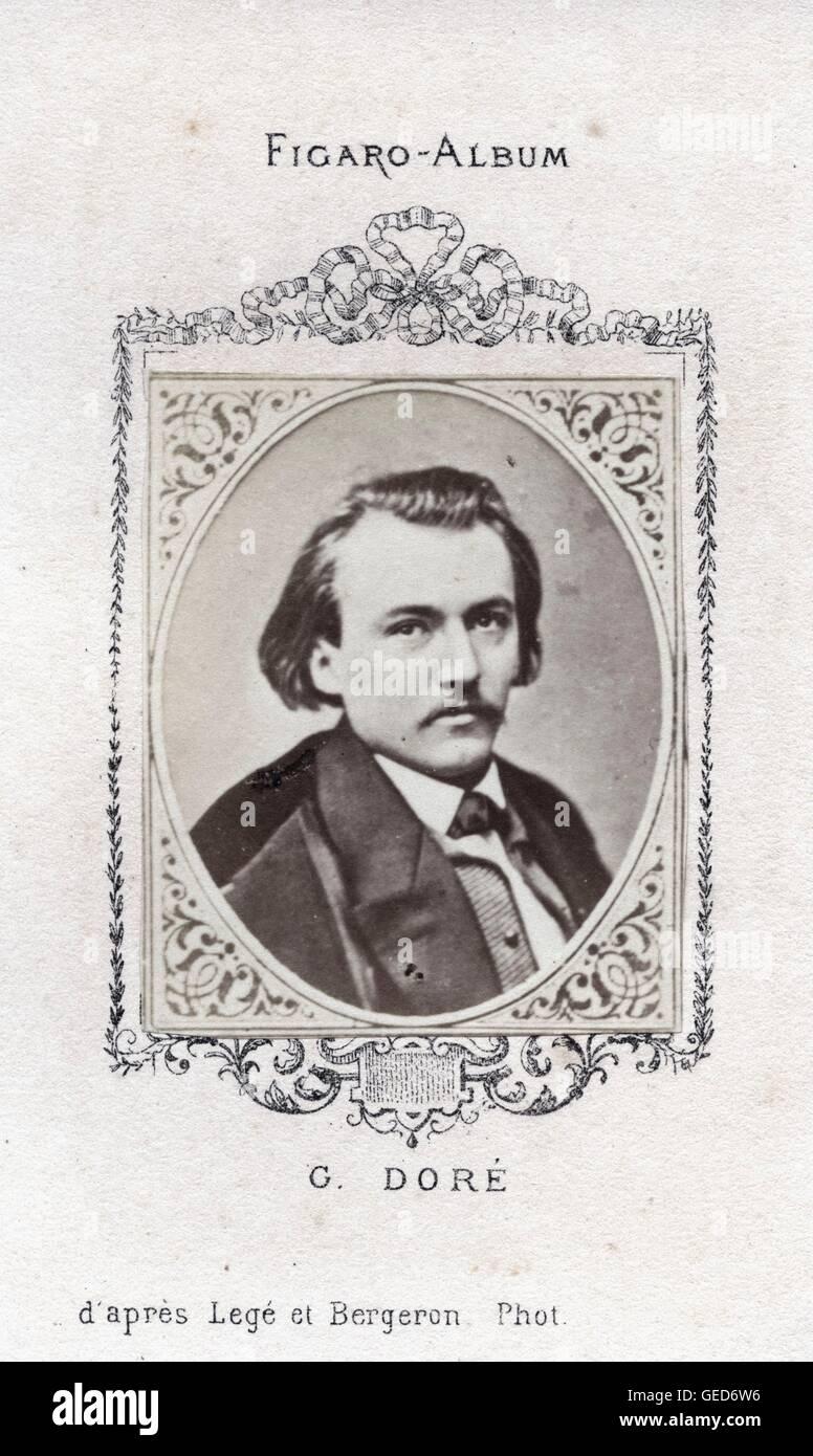 Gustave Doré, ca 1870, by Pierre Petit - Stock Image