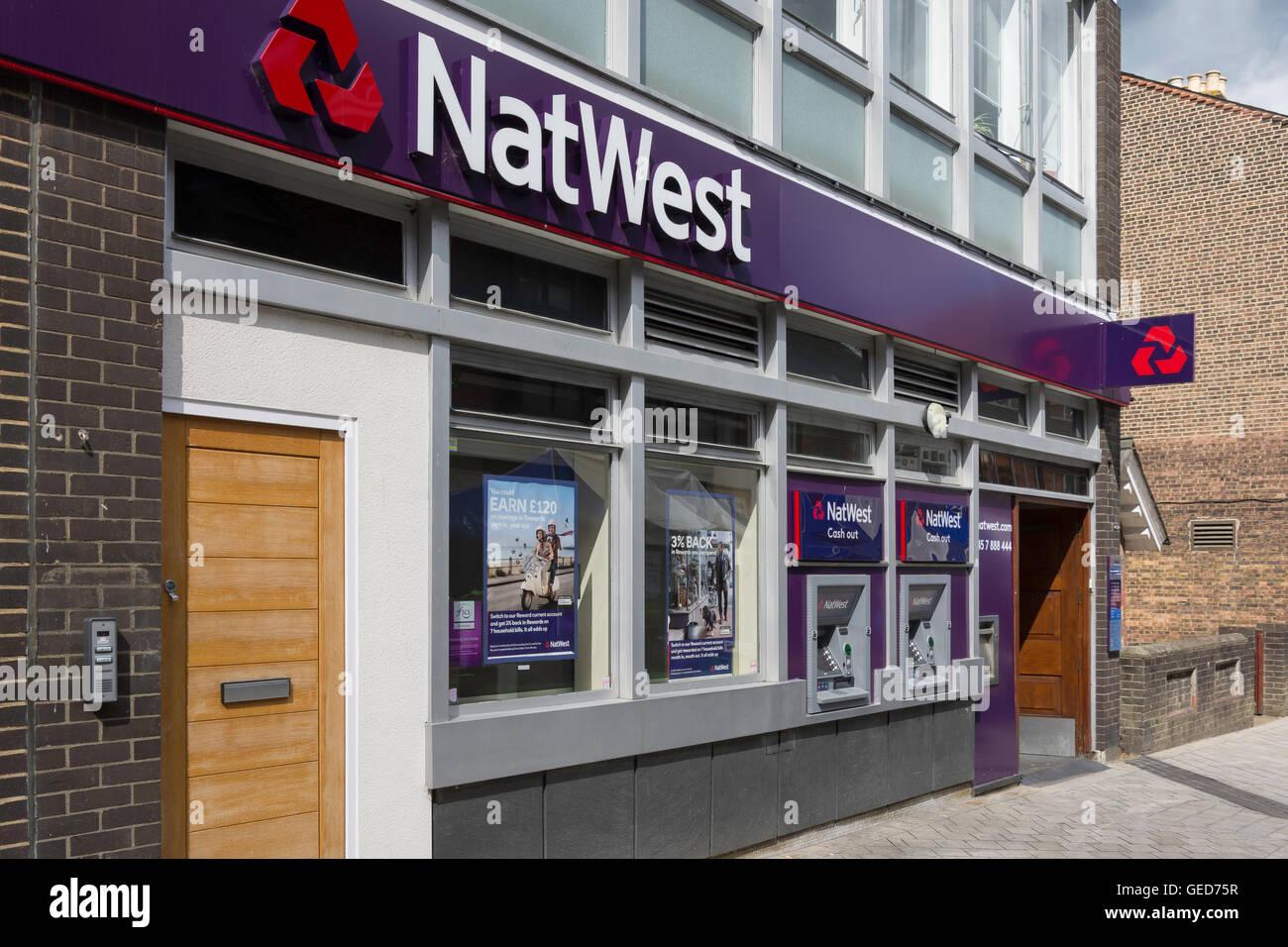 NatWest Bank, Station Road, Redhill, Surrey, England, United Kingdom - Stock Image