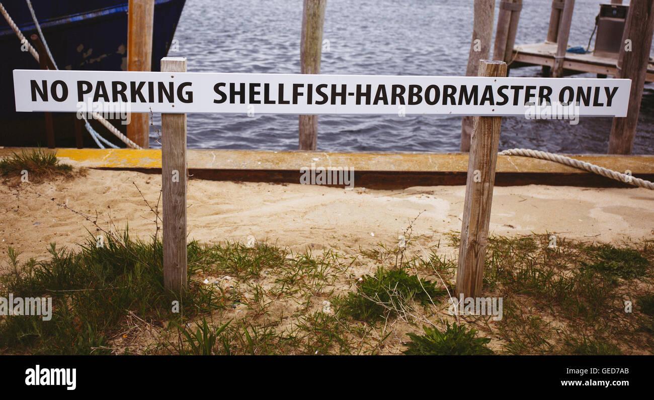 Sign in Menemsha Massachusetts on Martha's Vineyard - Stock Image