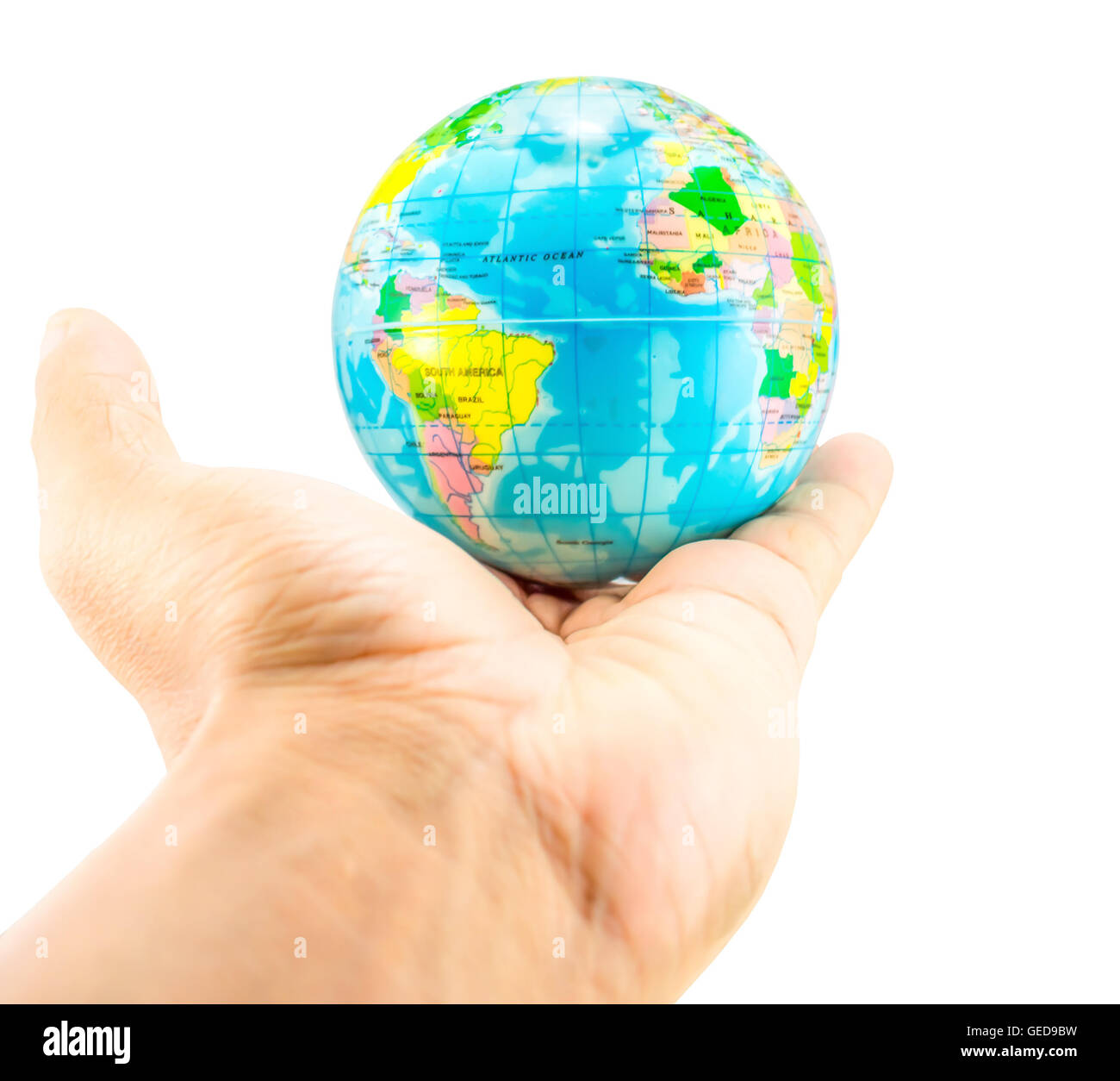 earth on hand - Stock Image