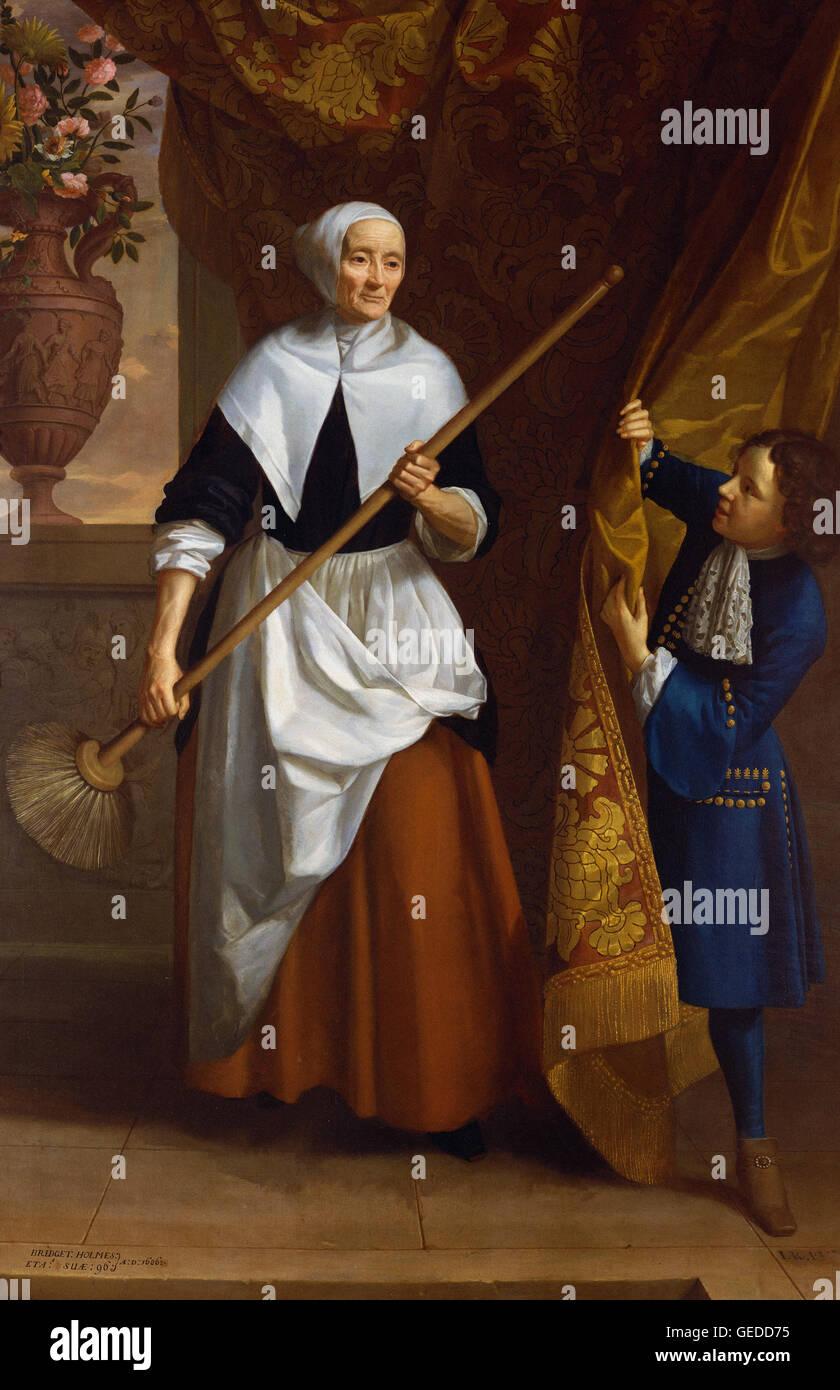 John Riley - Bridget Holmes (1591-1691) - Stock Image