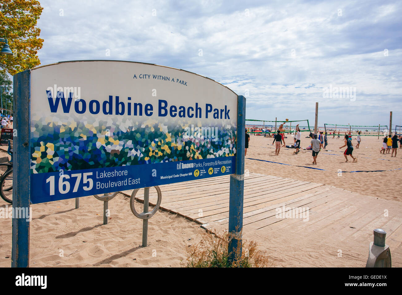 toronto woodbine beach park stock photo 112163798 alamy. Black Bedroom Furniture Sets. Home Design Ideas