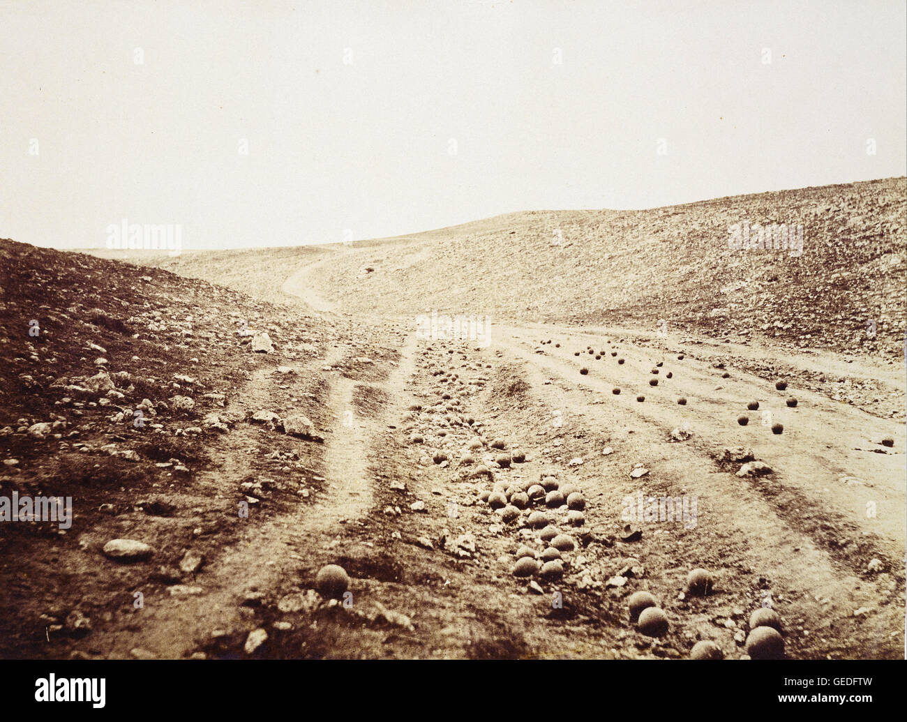 Roger Fenton - The Valley of the Shadow of Death - Stock Image