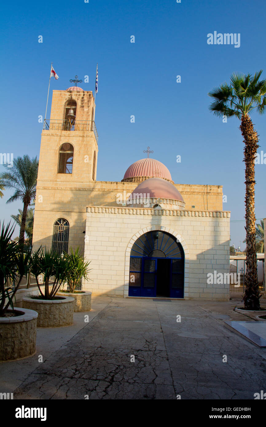 Church in Jericho town in West Bank - Stock Image
