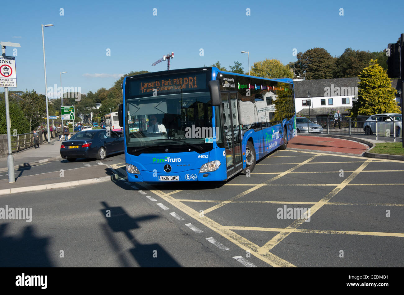 A First Group Mercedes-Benz Citaro working on the Truro park & ride service PR1 to Langarth Park P&R. - Stock Image