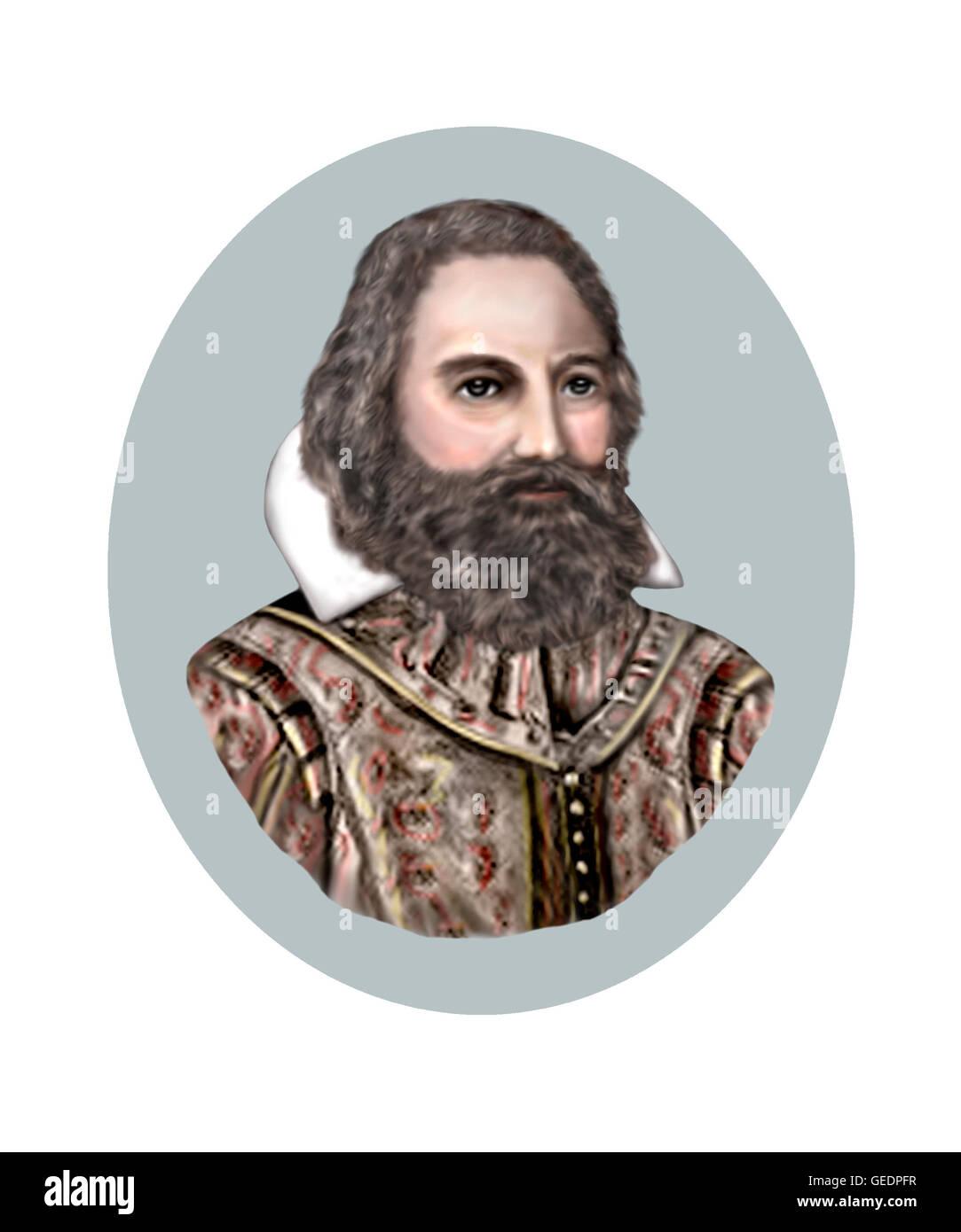 John Smith, 1580-1631, Captain, Adventurer - Stock Image