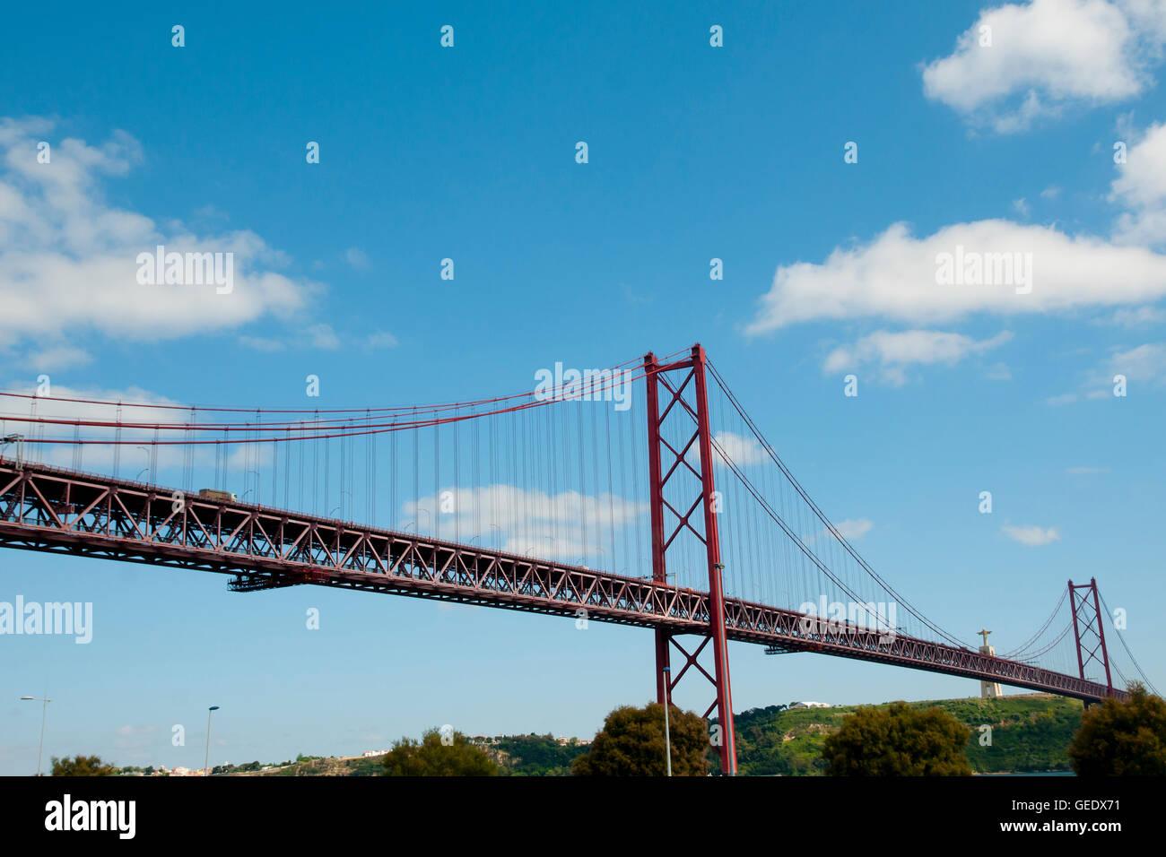 25 de Abril Bridge - Lisbon - Portugal Stock Photo