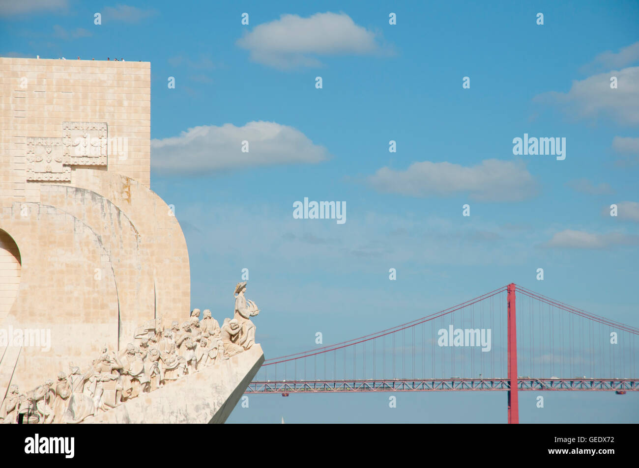 Monument to the Discoveries - Lisbon - Portugal - Stock Image