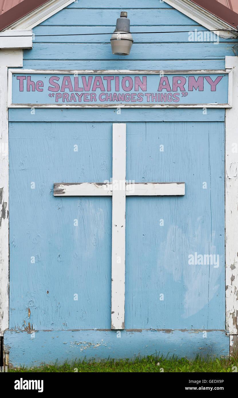 Salvation Army Church, Hoonah, Alaska, USA - Stock Image