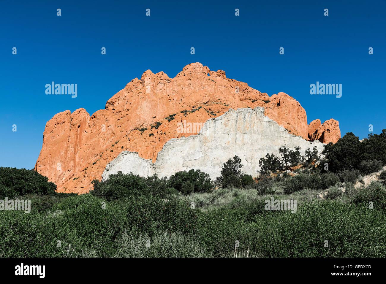 Garden of the Gods Park, Colorado Springs, Colorado, USA. - Stock Image