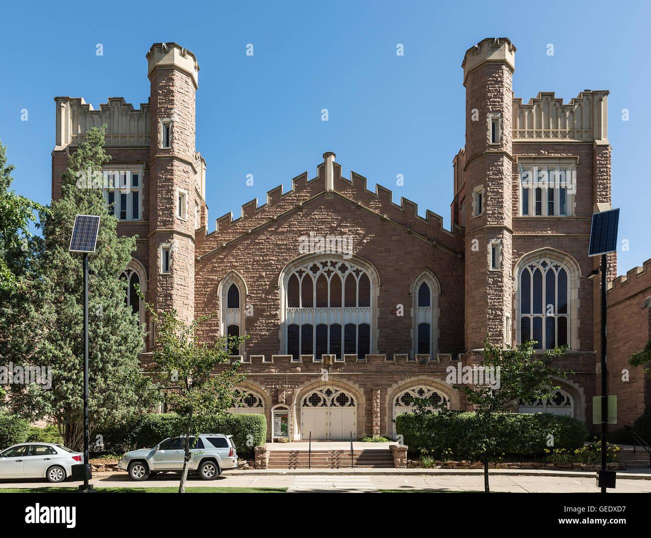 Macky Auditorium, University of Colorado, Boulder, Colorado, USA. - Stock Image