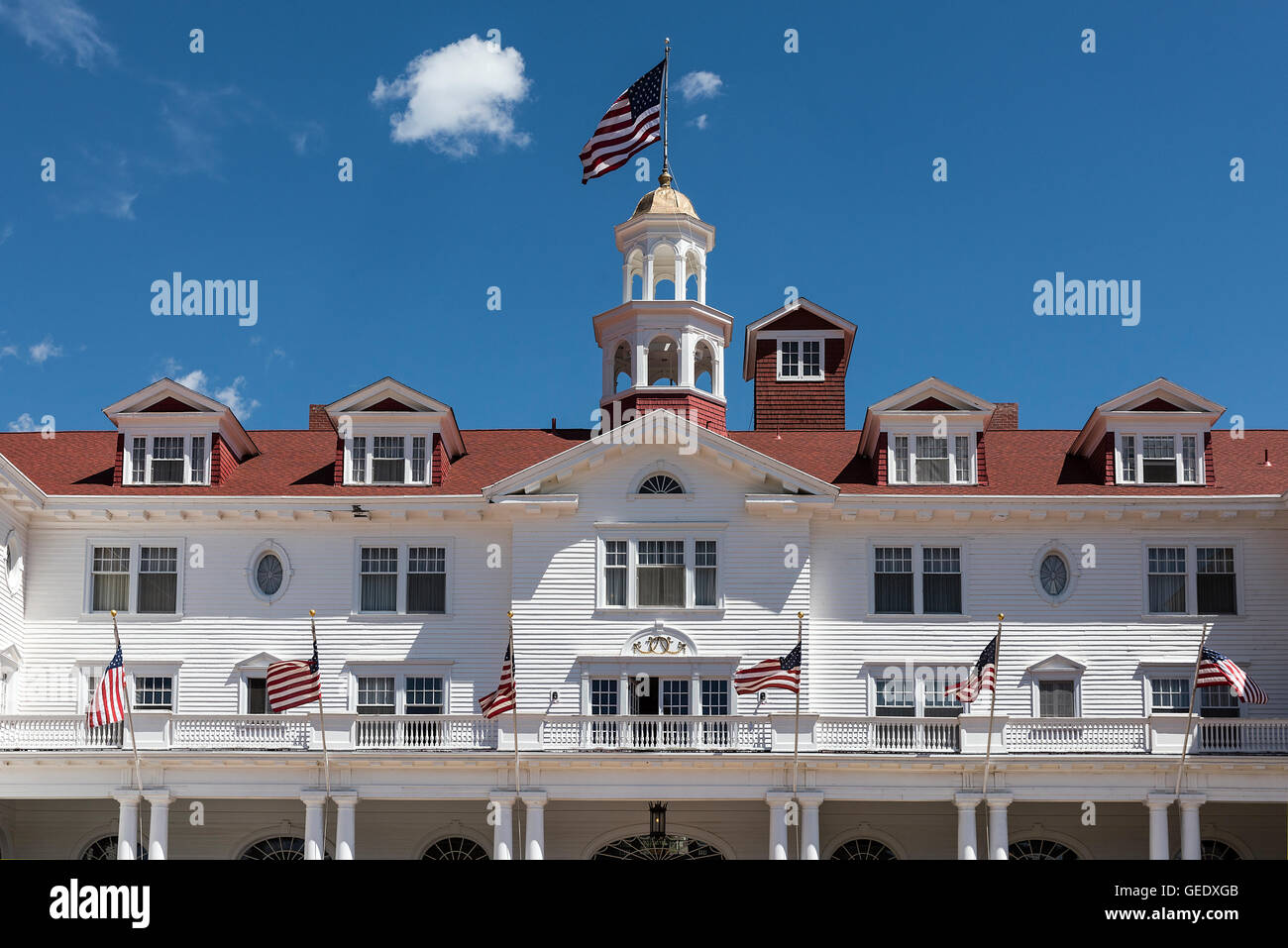 The Stanley Hotel,  Estes Park, Colorado, USA - Stock Image