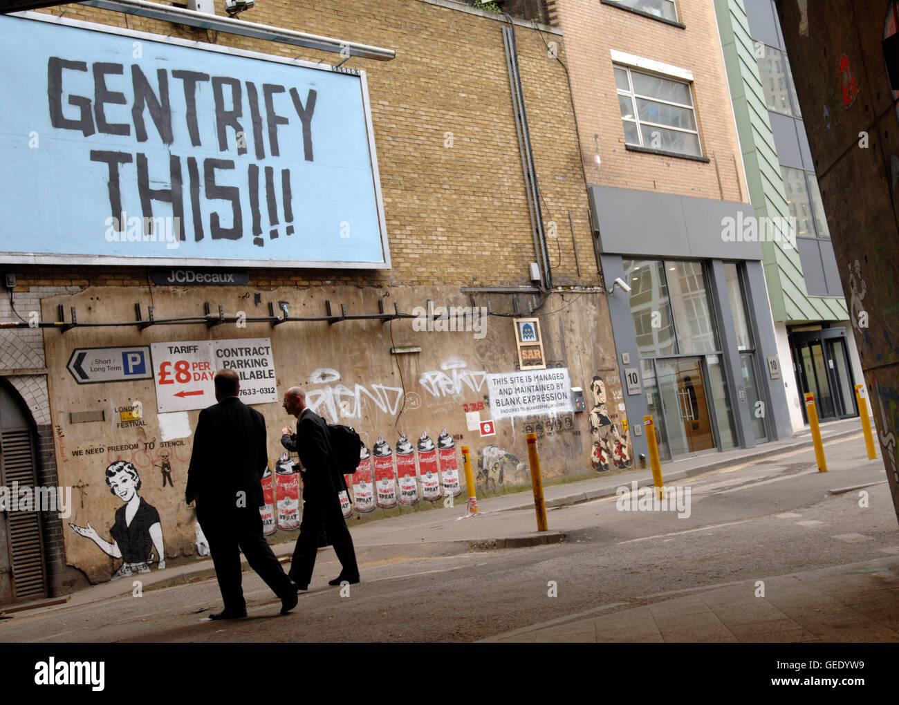 Street Art, Leake St, London 2008 - Stock Image