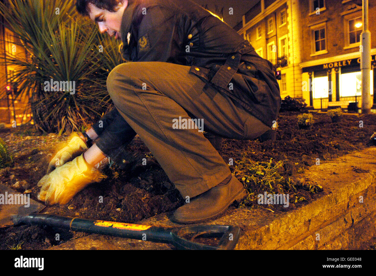 Richard Reynolds, founder of The Guerrilla Gardening organisation in ...