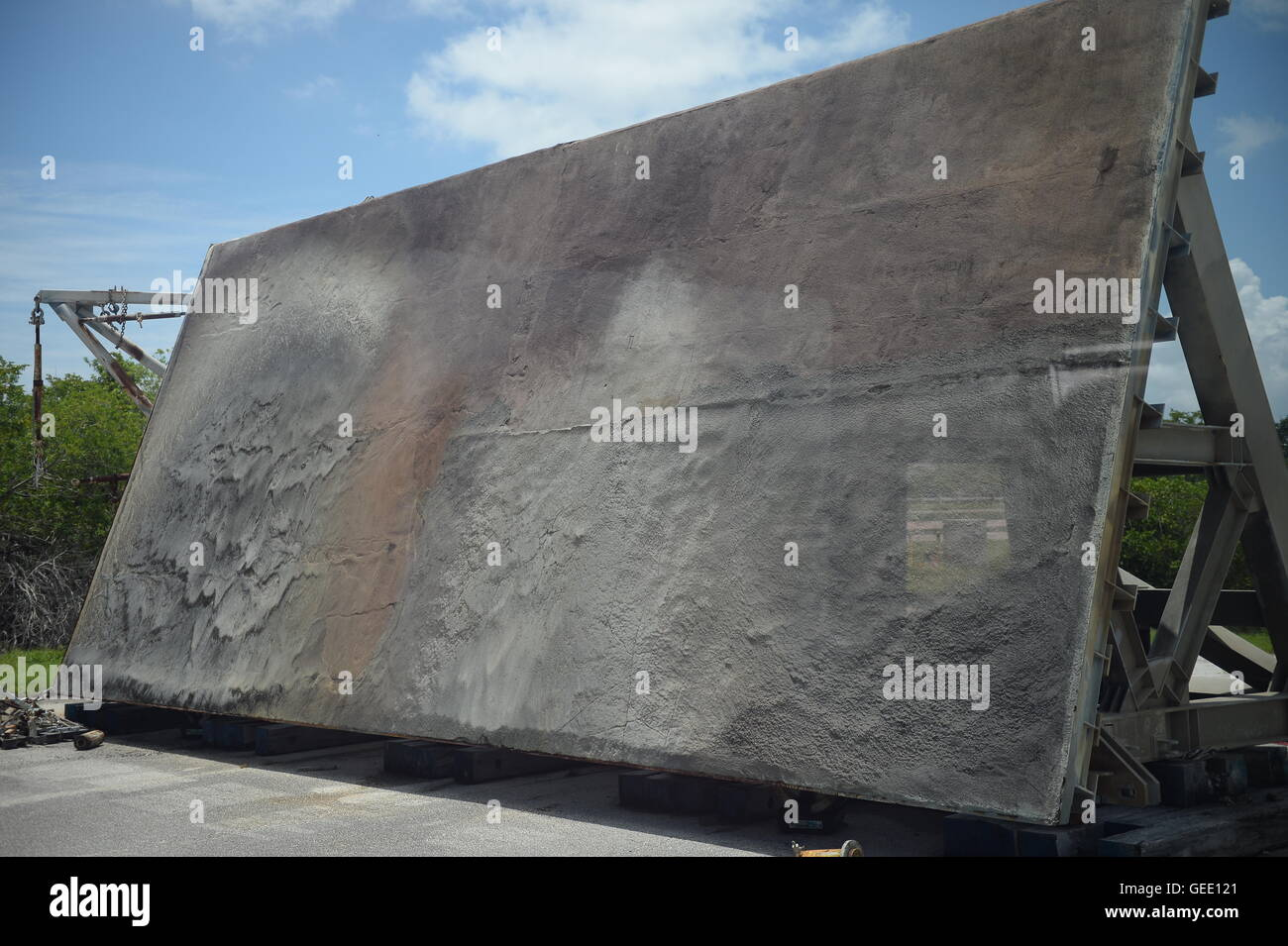 Heat Deflectors  at the Kennedy Space Centre, Cape Canaveral, Florida, America - Stock Image