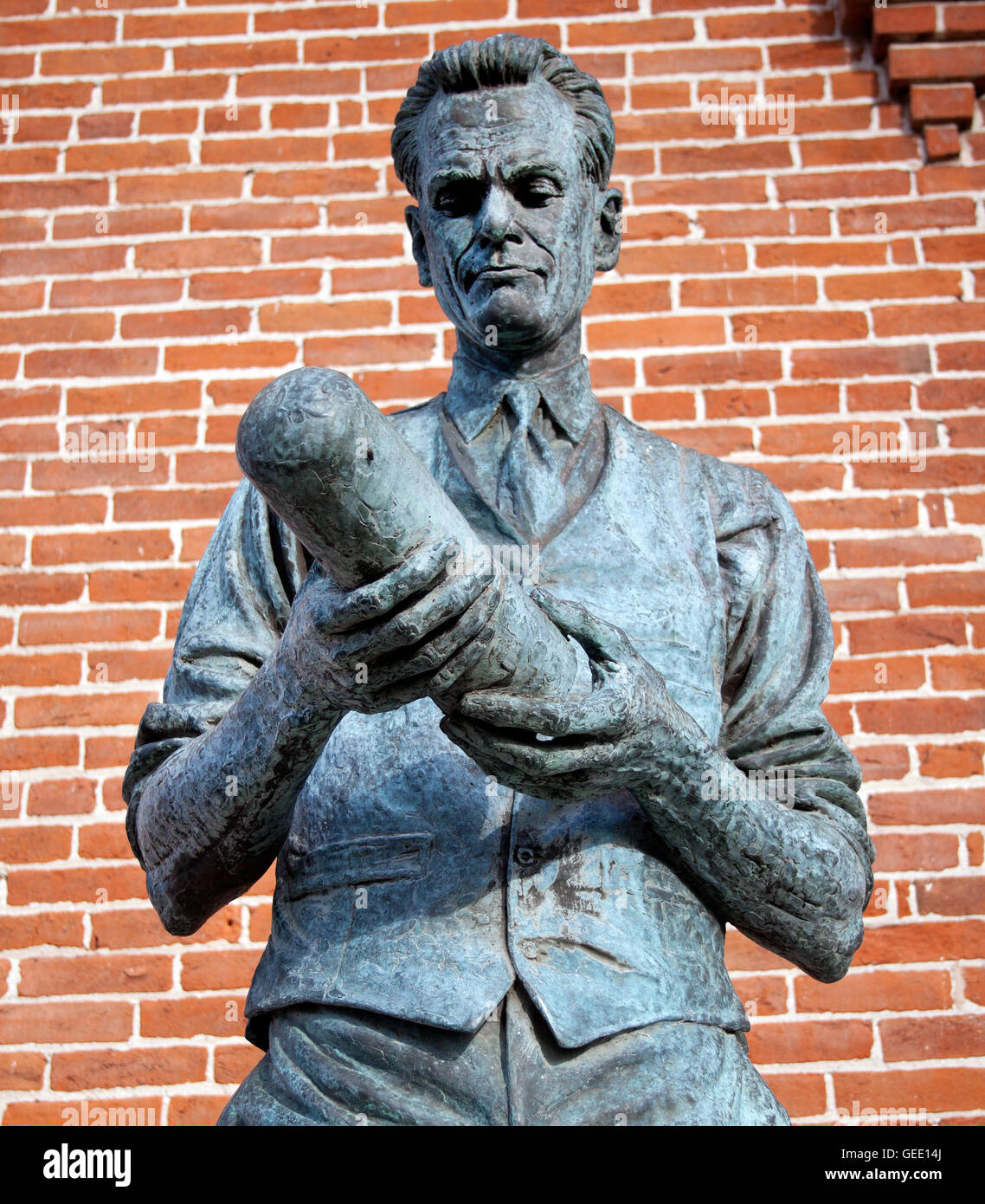Statue of Philo Farnsworth the father of Television born in Beaver Utah - Stock Image