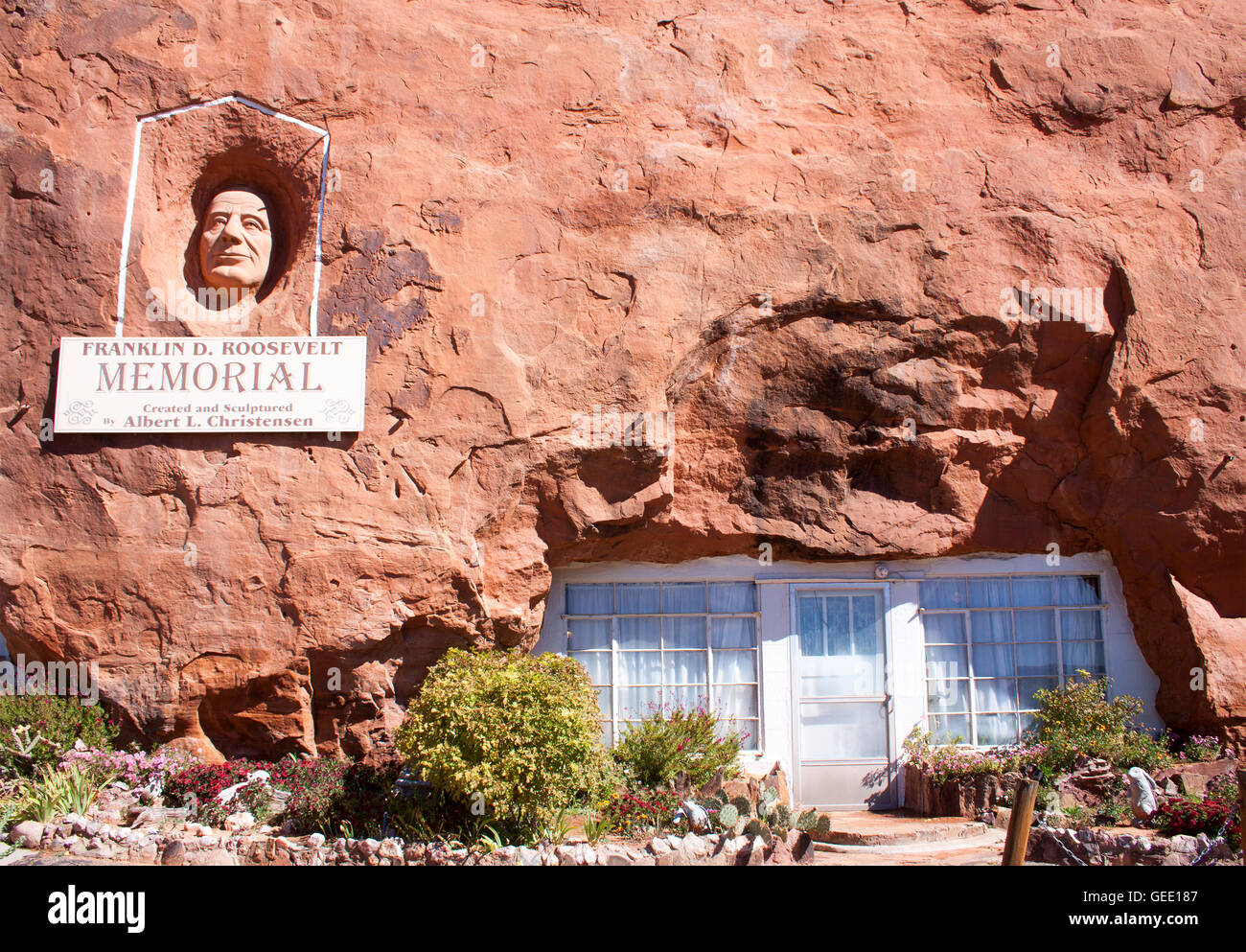 Hole in the rock house in moab utah stock photo 112175735 for Cost to build a house in little rock