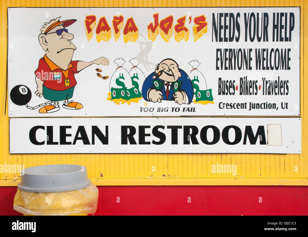 Papa Joe's rest stop in Thompson Utah - Stock Image
