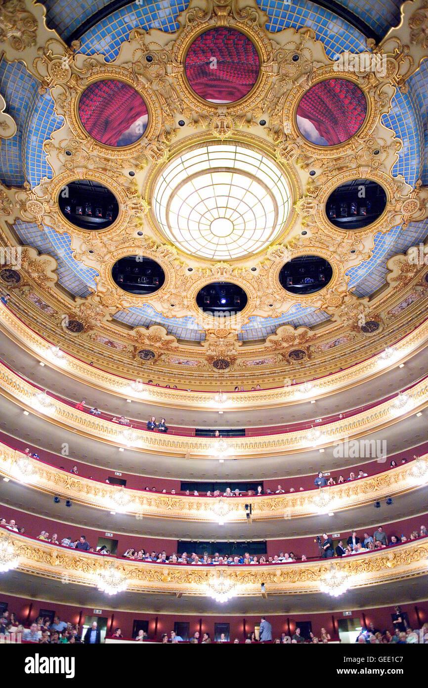 Gran Teatre del Liceu, opera house, La Rambla, Ciutat Vella, Barcelona, Spain - Stock Image
