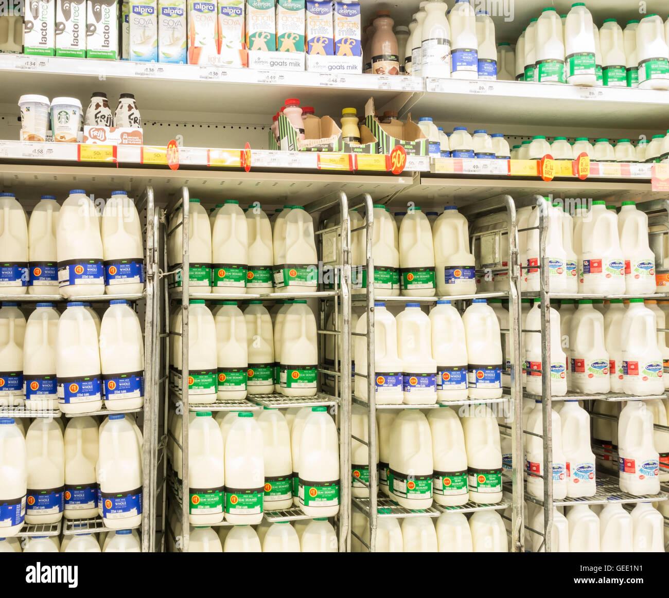 Milk Supermarket Uk Stock Photos Milk Supermarket Uk Stock Images