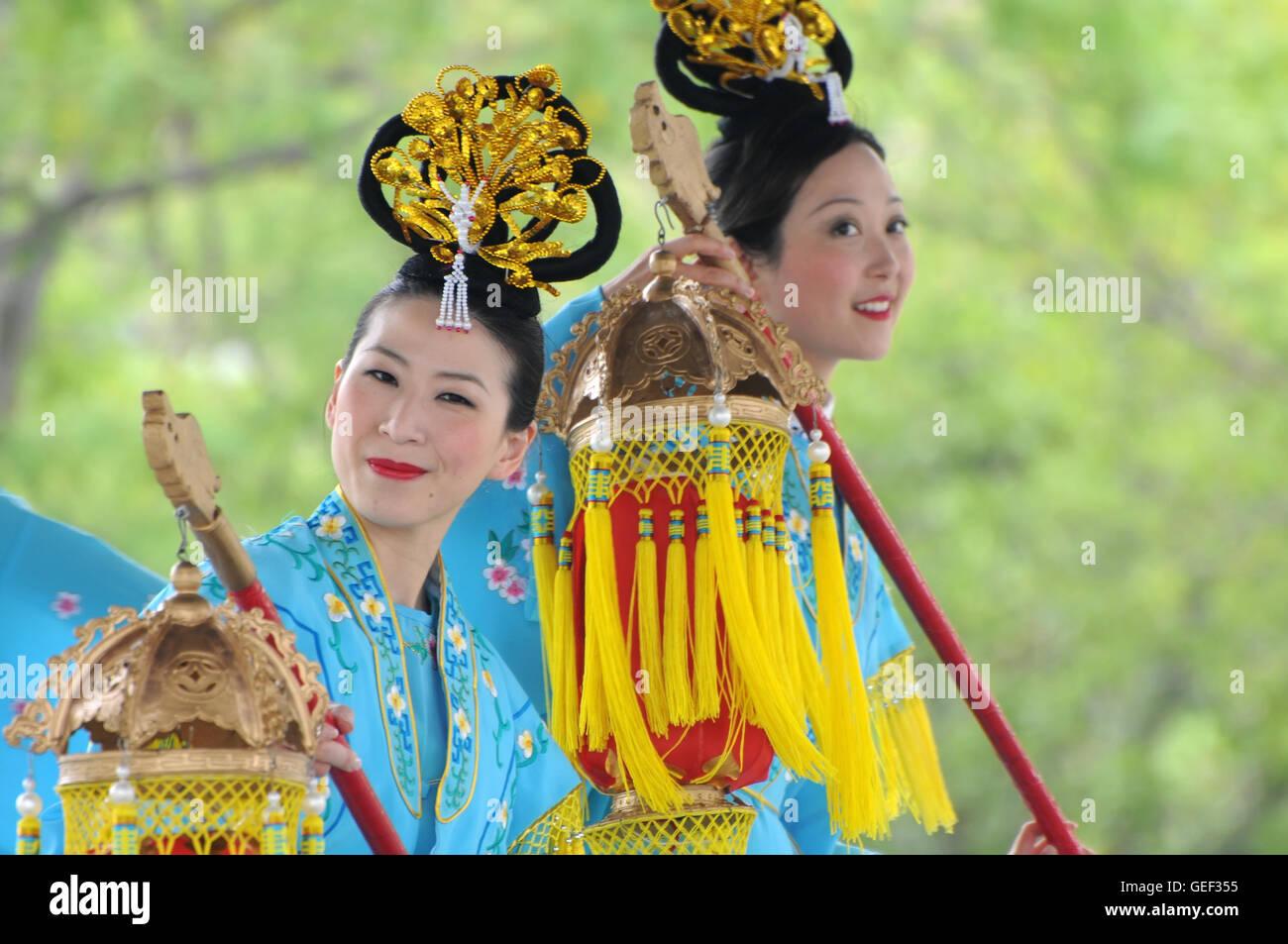 Chinese women dancer - Stock Image