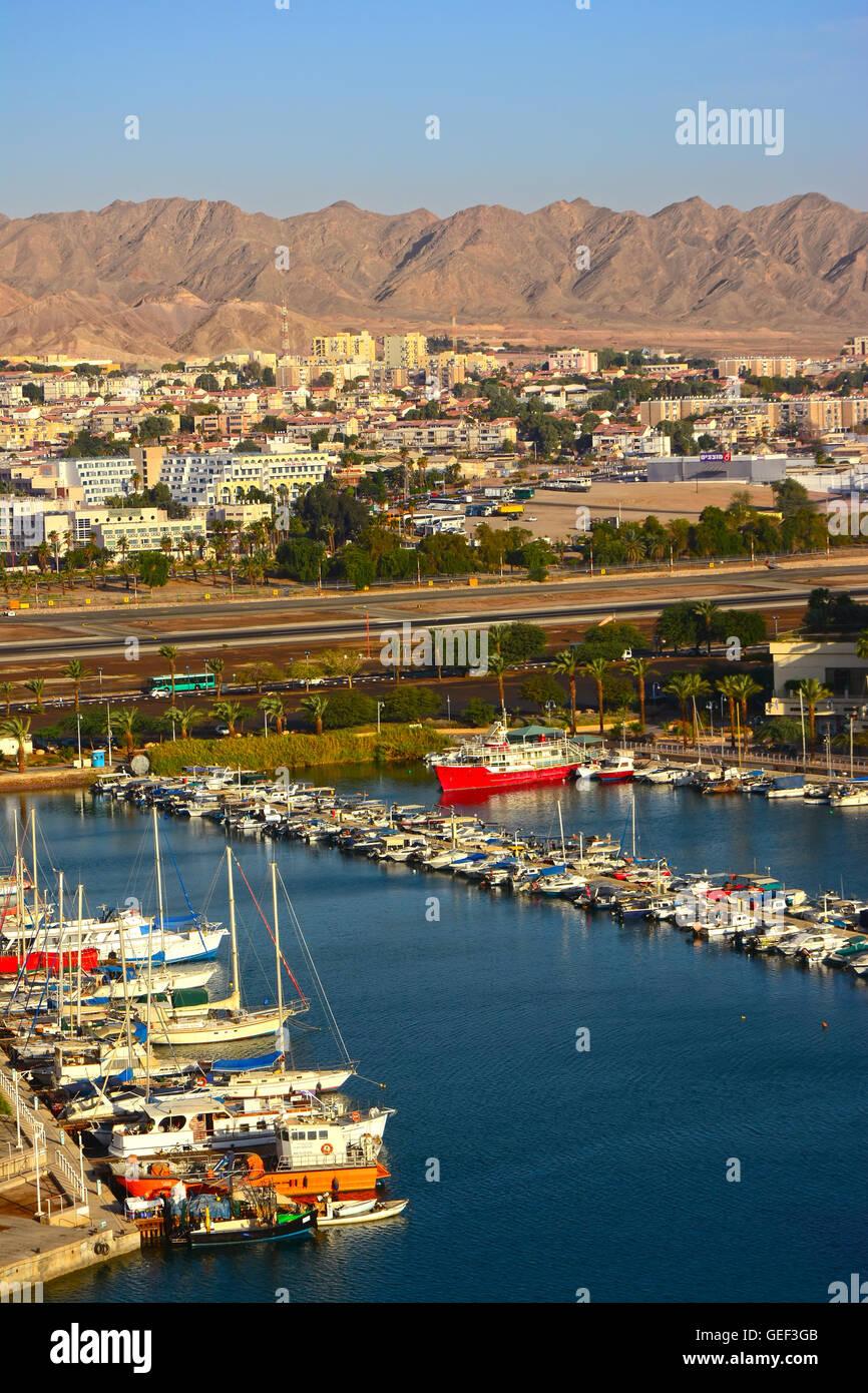 Eilat tourism city, - Stock Image