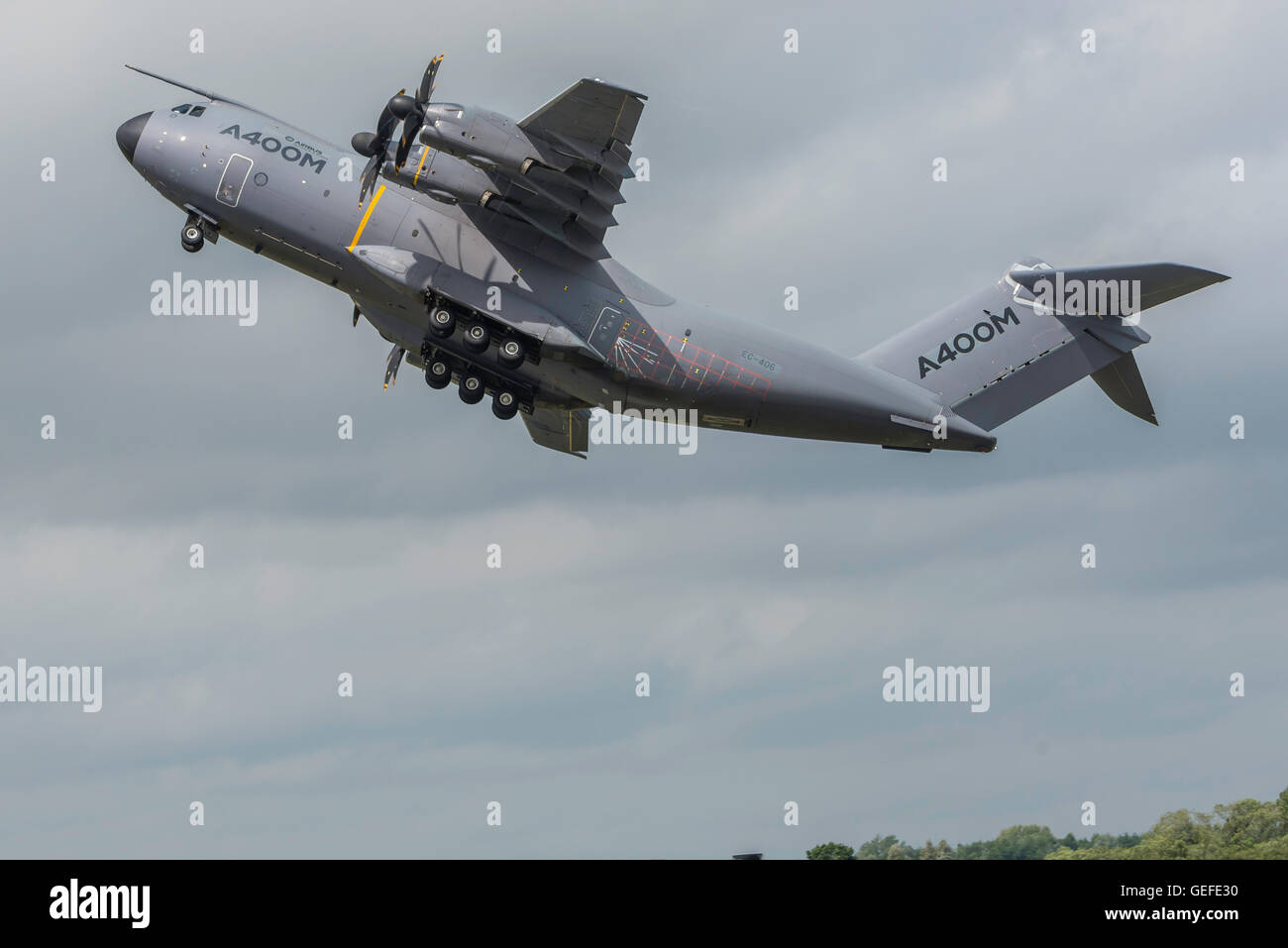 A400 RIAT Fairford England UK Air show flying display. - Stock Image