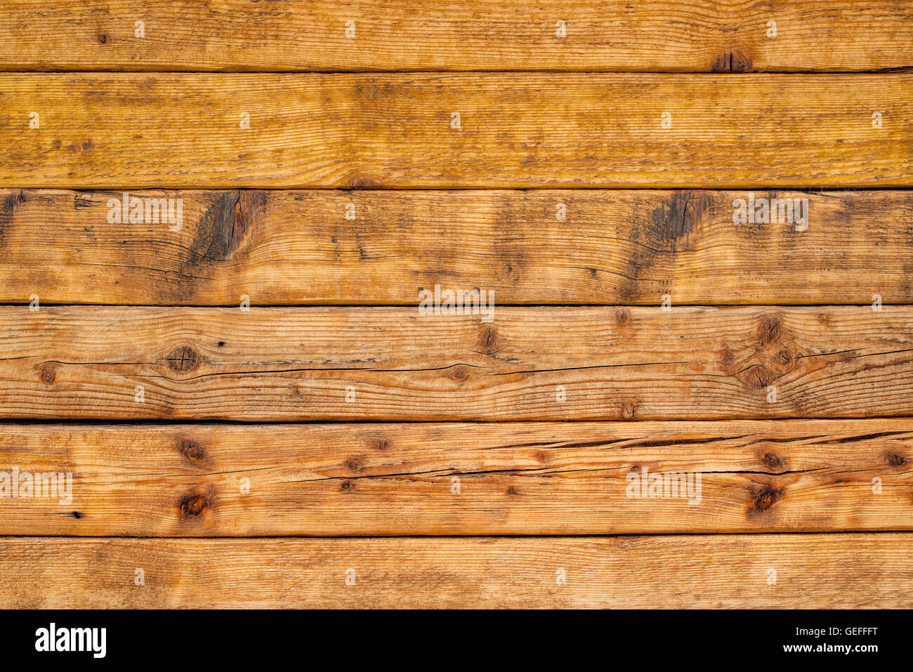 Wooden planks as background, textured surface of rustic wood boards - Stock Image