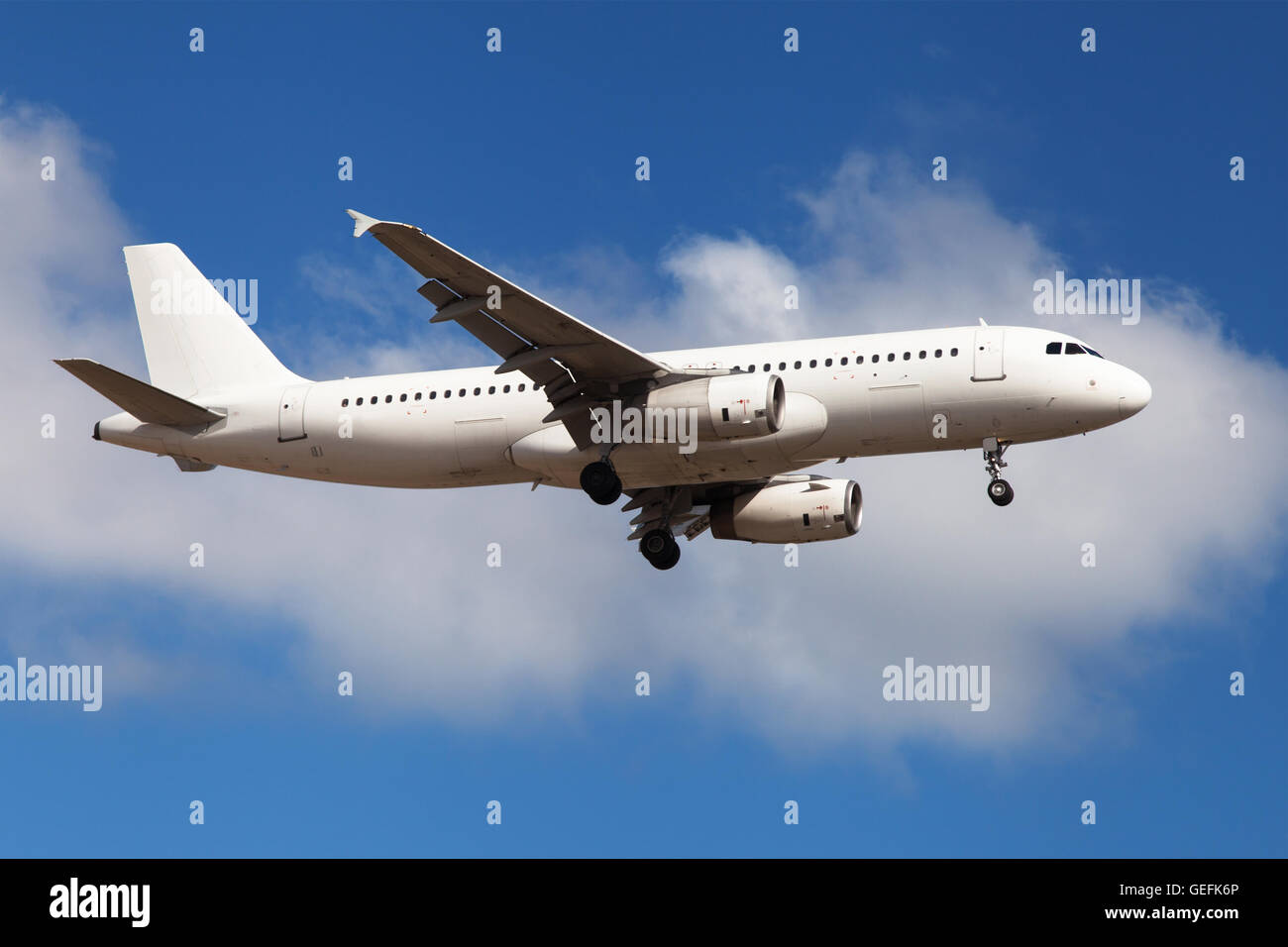 Airbus A320-200 without painting - Stock Image