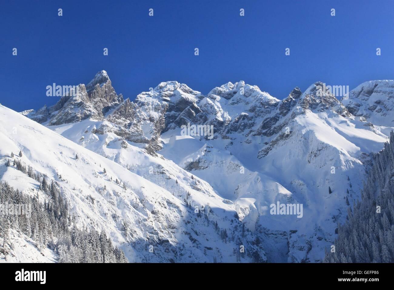 Trettachspitze, Stillach Valley, Allgaeu - Stock Image