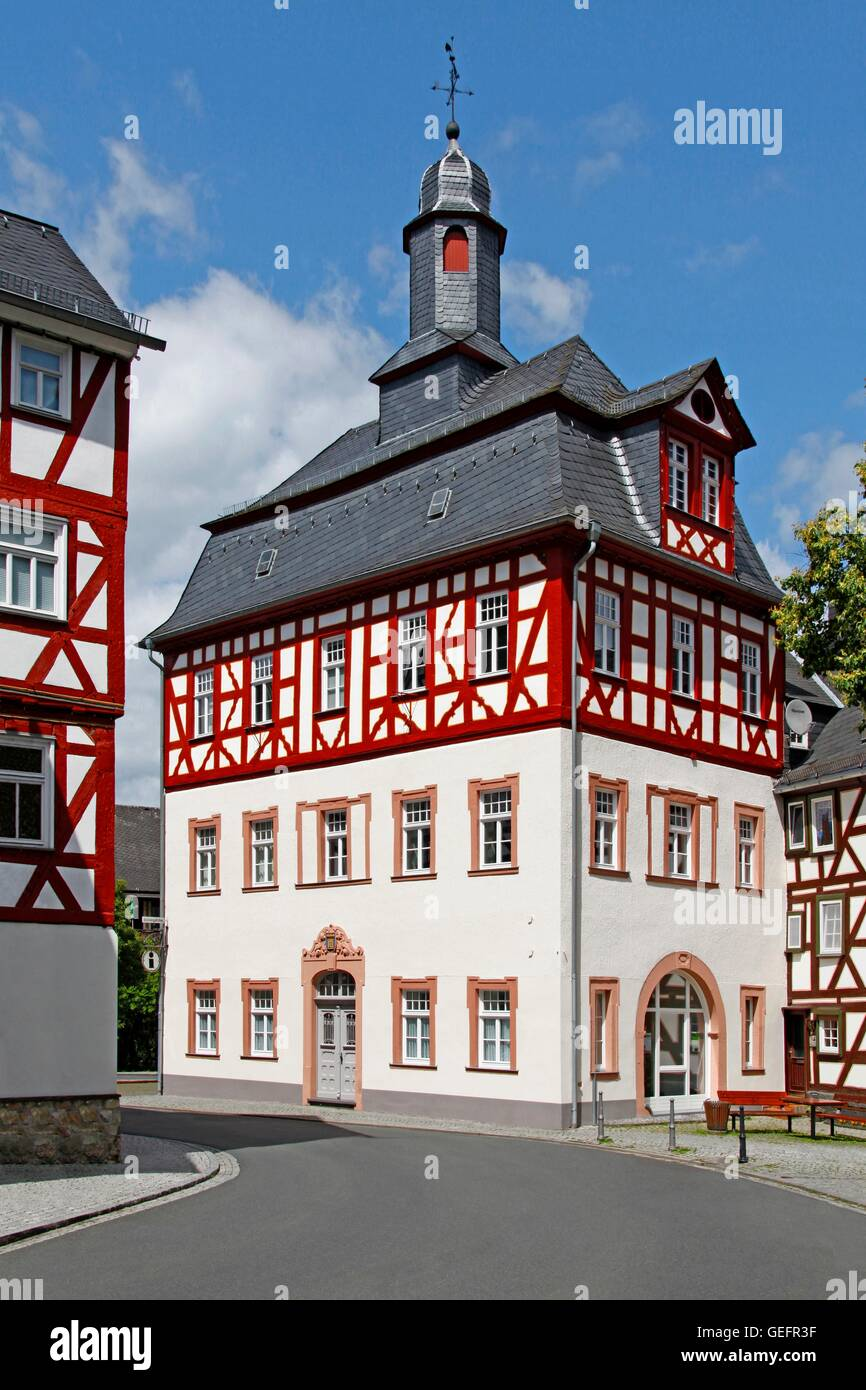 Old city hall, Dillenburg - Stock Image