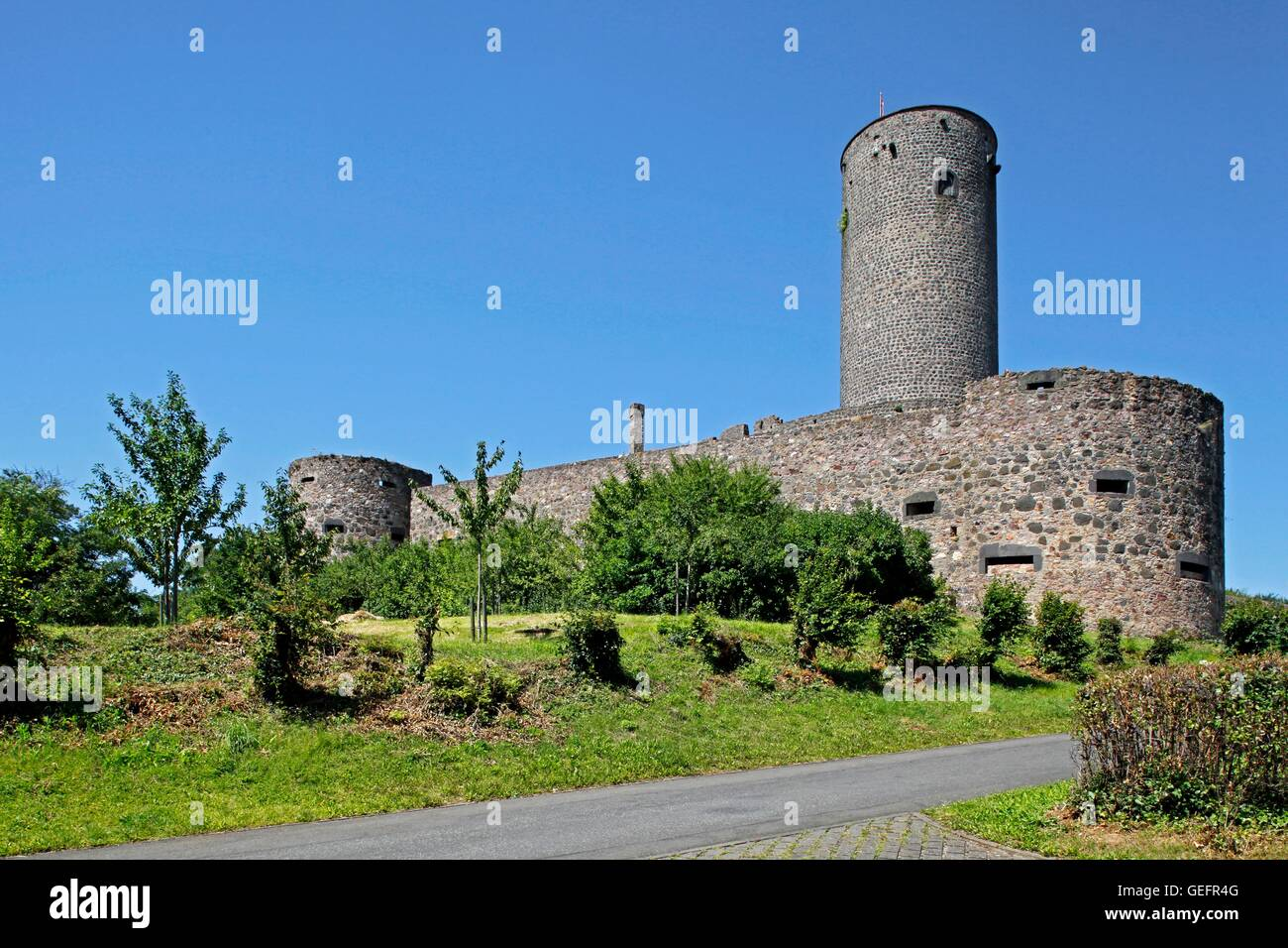 Castle Muenzenberg, Wetteraukreis, Hesse Stock Photo