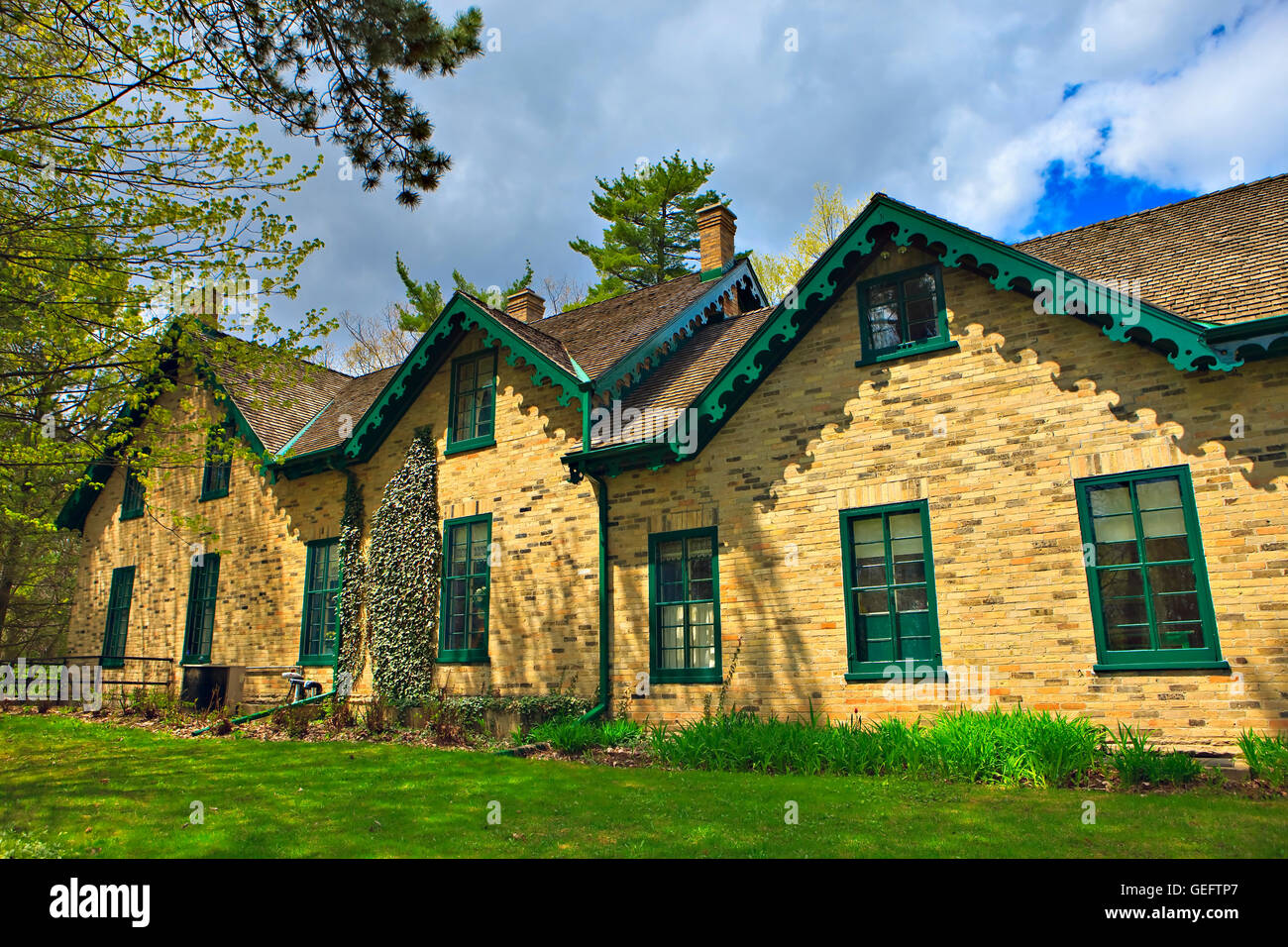 geography,travel,Canada,Ontario,Kitchener,Woodside National Historic Site,childhood home of's longest serving - Stock Image