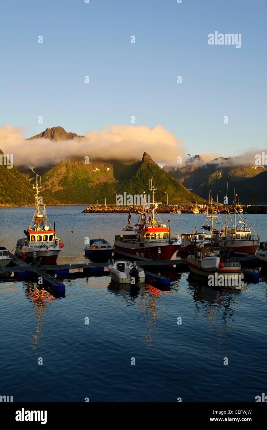 Husoey, Senja, Norway - Stock Image