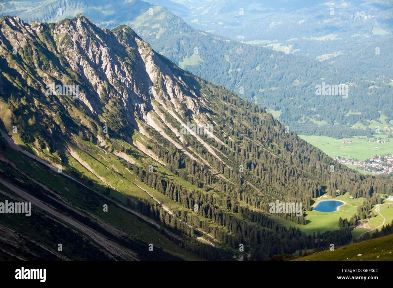 Schattenberg and Oberstdorf, Allgaeu, Bavaria - Stock Image