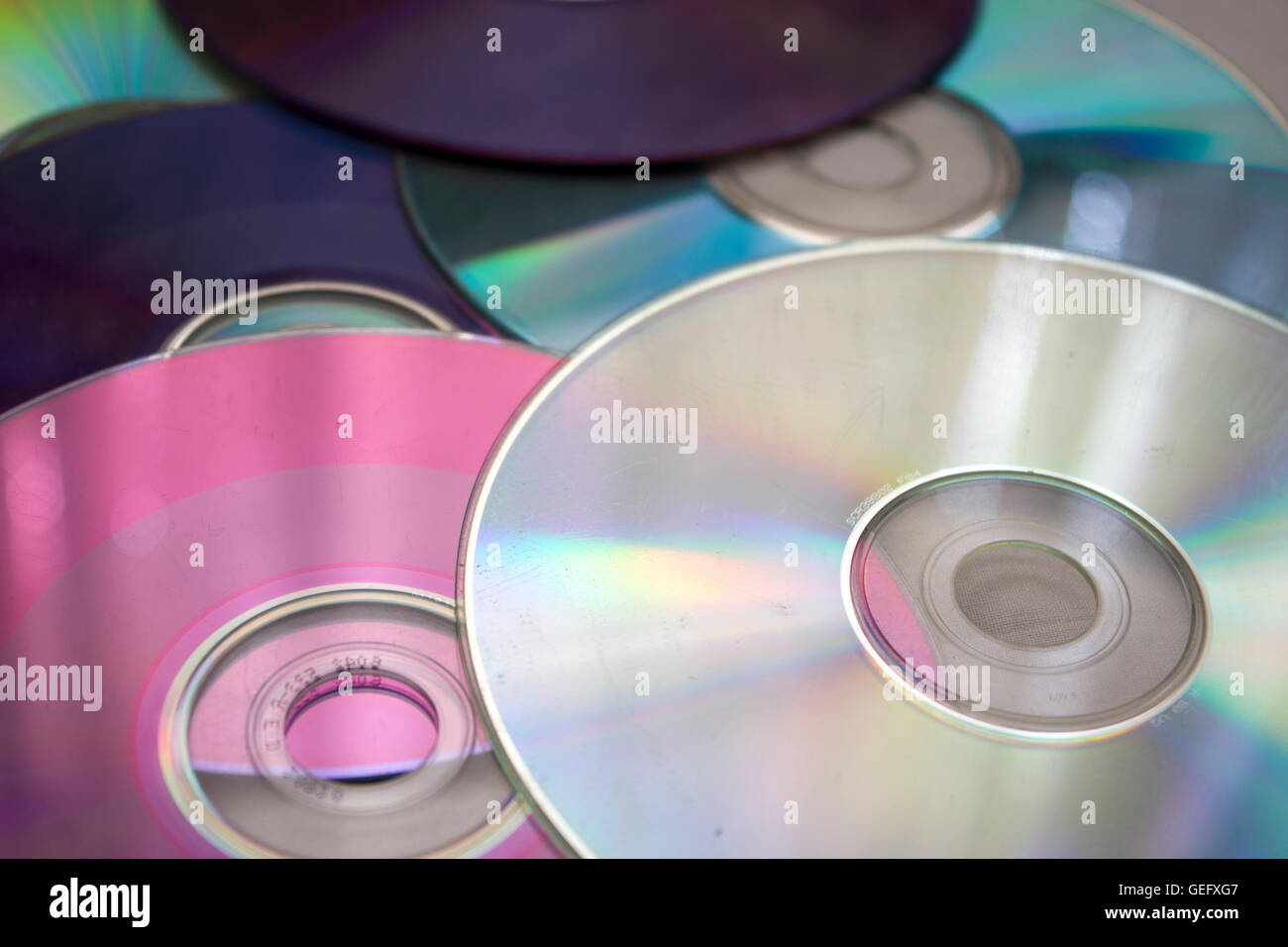 DVD and CD - Stock Image