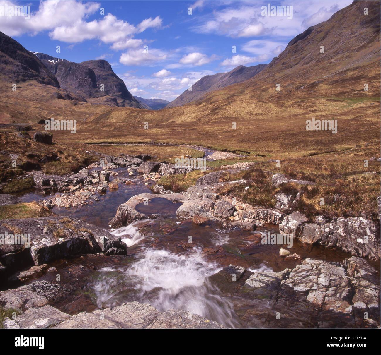 Glencoe, West Highlands, Scotland - Stock Image