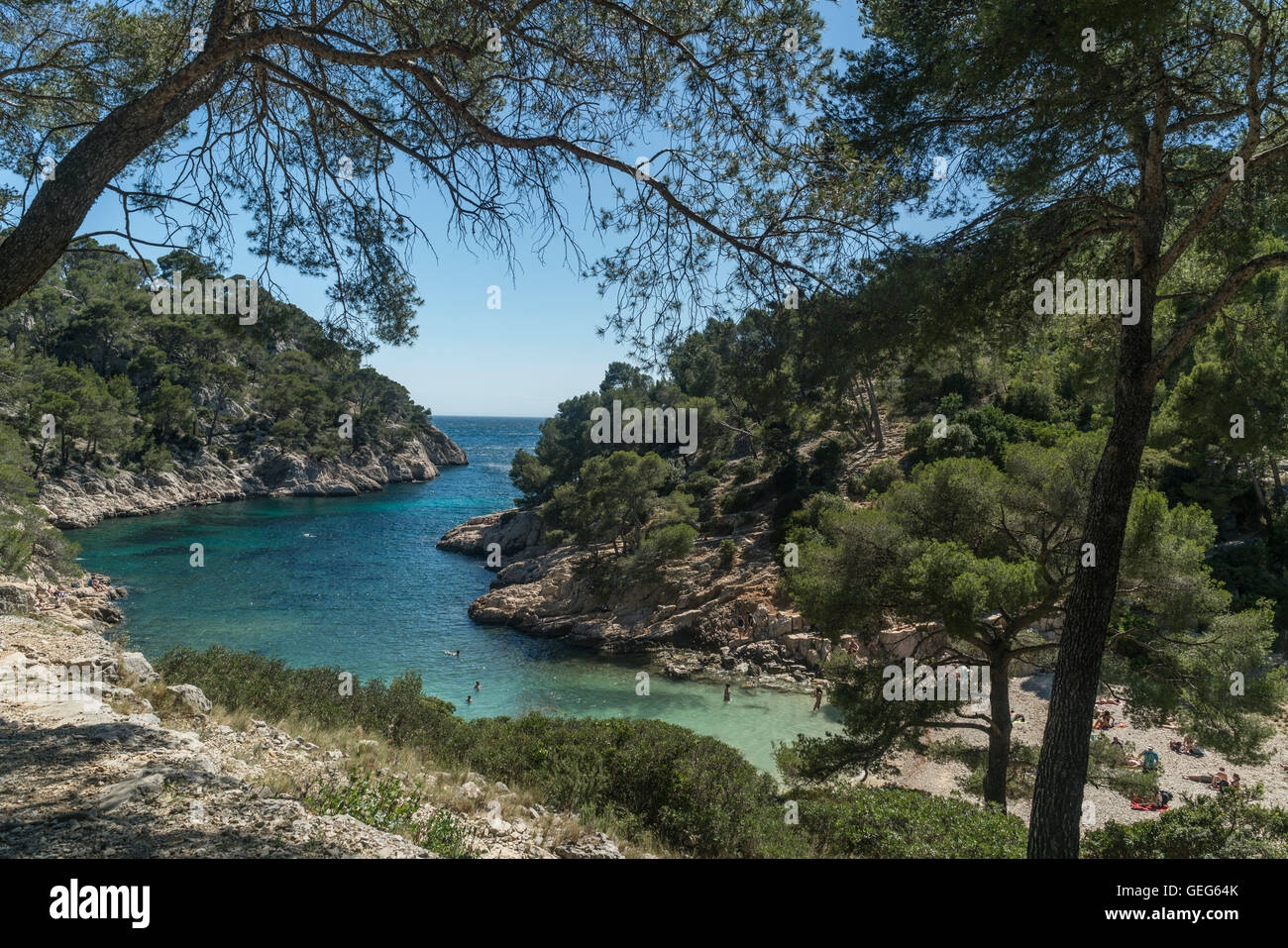 Port Pin beach, Calanques, Cassis,  Provence, France - Stock Image