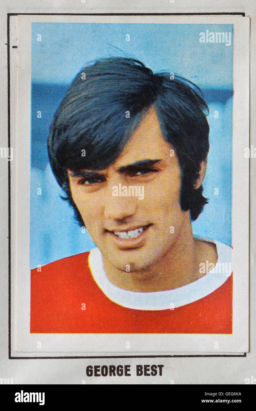 The wonderful world of soccer stars picture stamp album 1968-1969 of George Best - Stock Image