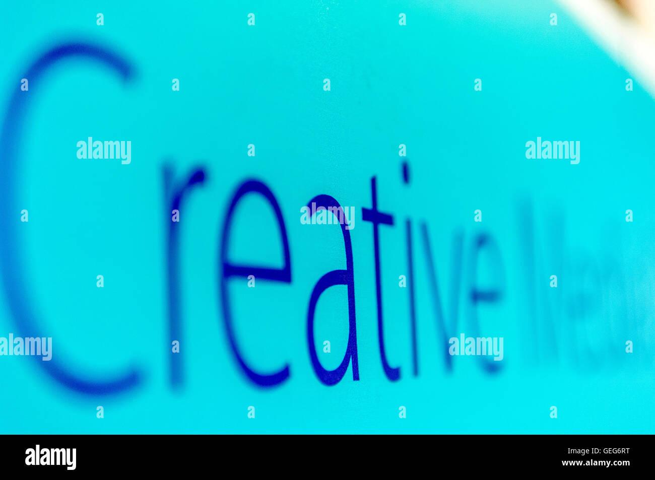 Creative sign - Stock Image