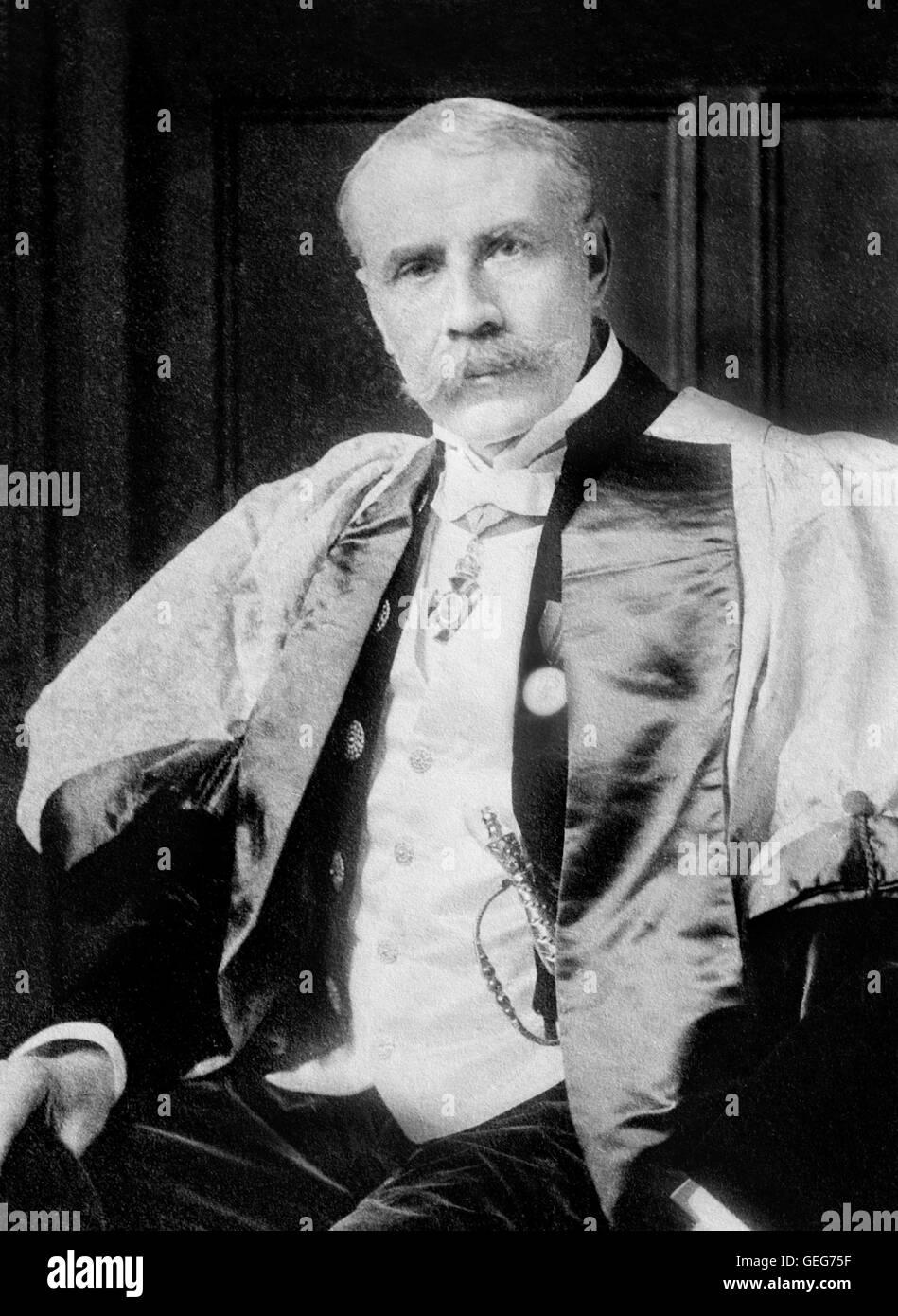 Edward Elgar. Portrait of the English composer Sir Edward William Elgar (1857-1934). Photo from Bain News Service, - Stock Image
